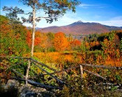 Autumn landscape of Mount Chocorua, New England, New Hampshire