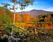 Autumn landscape of Mount Chocorua, New England, New Hampshire