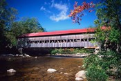 Covered Albany Bridge Over the Swift River, New Hampshire