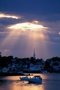 The North Church Rises Above Portsmouth, Piscataqua River, New Hampshire