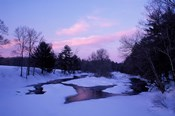 Winter from Bridge on Lee-Hook Road, Wild and Scenic River, New Hampshire