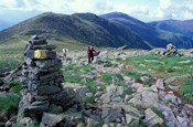 Backpacking on Gulfside Trail, Appalachian Trail, Mt Washington, New Hampshire