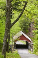 The Flume Covered Bridge, Pemigewasset River, Franconia Notch State Park, New Hampshire