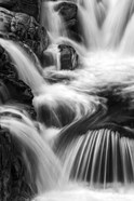 New Hampshire. Black and White image of waterfall on the Swift River, Rocky Gorge, White Mountain NF
