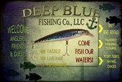 Fishing - Deep Blue LLC sign