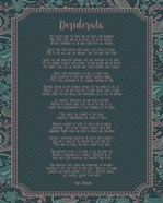 Desiderata Floral Frame Turquoise