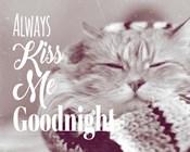 Always Kiss Me Goodnight Sleepy Cat
