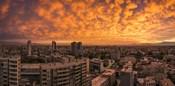 Cityscape at Sunset, Santiago, Chile