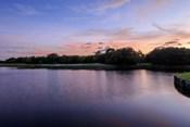 Sunset Over Golf Course in Sarasota, Florida