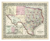 Johnson's Map of Texas