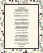 Desiderata Leaf Pattern Frame Light