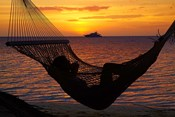 Beach hammock, Plantation Island, Malolo Lailai, Fiji