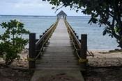Long wooden pier, Coral Coast, Viti Levu, Fiji, South Pacific