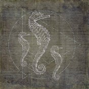 Seahorse Geometric Silver