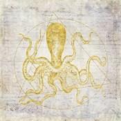 Octopus Geometric Gold