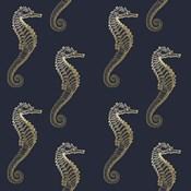 Gold Seahorse Pattern