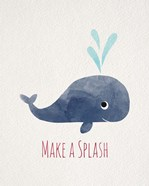 Make a Splash Whale White