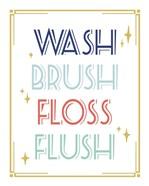 Wash Brush Floss Flush Shark Coral Part II