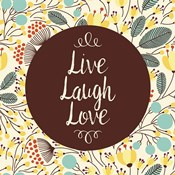 Live Laugh Love Retro Floral White