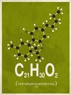 Molecule THC - Green