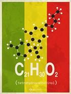 Molecule THC - Stripes