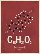 Molecule Estrogene - Red