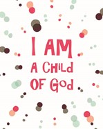 I Am A Child Of God Radial Dots Pink