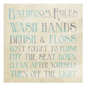 Bathroom Rules Teal