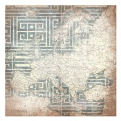 Patterned Map Europa