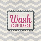 Wash Your Hands Gray Pattern