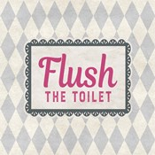 Flush The Toilet Gray Pattern