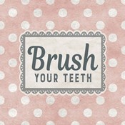 Brush Your Teeth Pink Pattern