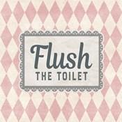 Flush The Toilet Pink Pattern