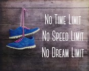 No Time Limit No Speed Limit No Dream Limit Blue Shoes