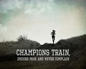 Champions Train Woman Black and White