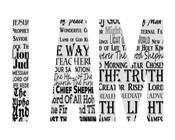 Names of Jesus I AM Silhouette White