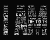 Names of Jesus I AM Silhouette Black