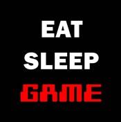 Eat Sleep Game - Black