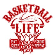 Basketball Life Red