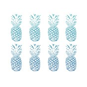 Beach Ombre Pineapples Simple