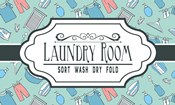 Laundry Room Sign Green Pattern
