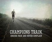 Champions Train Man Black and White