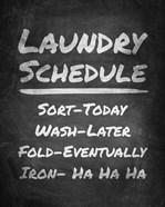 Laundry Schedule Chalkboard