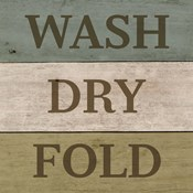 Wash Dry Fold Painted Wood