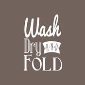 Wash Dry And Fold Brown Background