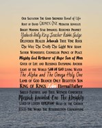 Names of Jesus Ocean Sunset