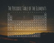 The Periodic Table Of The Elements Night Sky Green