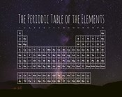 The Periodic Table Of The Elements Night Sky Purple