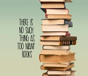 There Is No Such Thing As Too Many Books - Stack Of Books