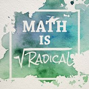 Math Is Radical Watercolor Splash Green